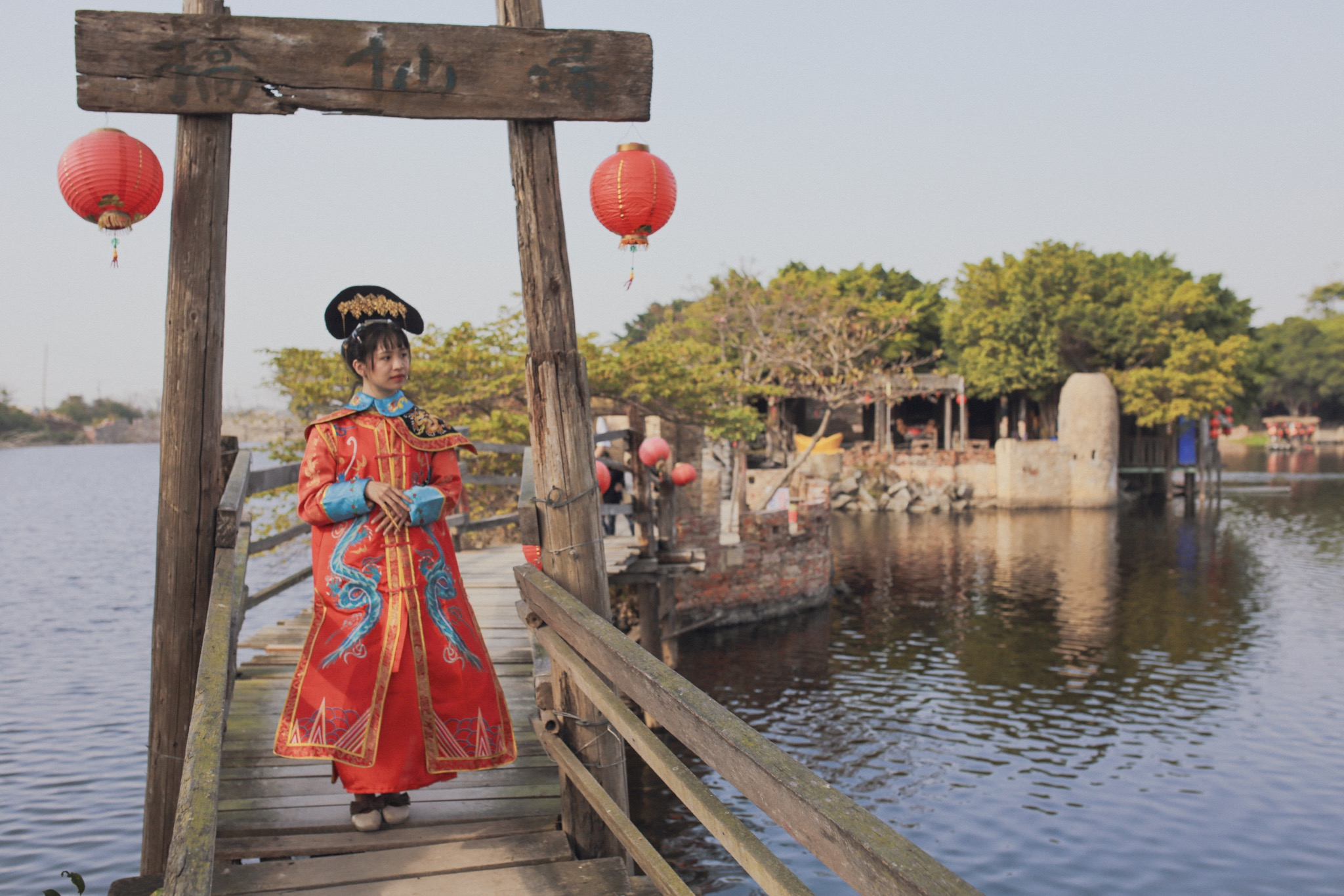 台南學甲老塘湖藝術村變裝體驗
