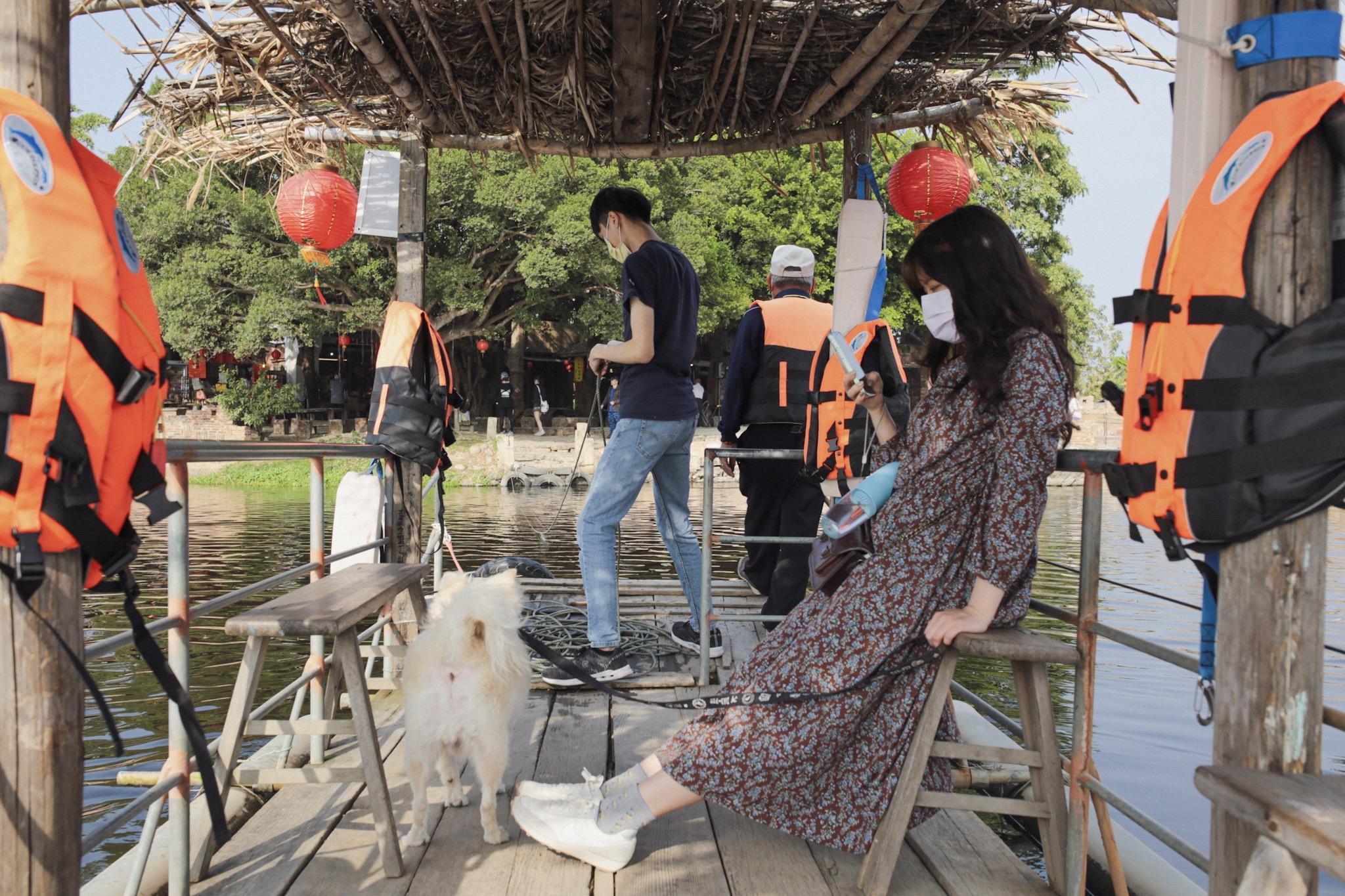台南學甲老塘湖藝術村拉船體驗